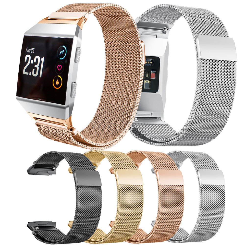 Magnetic Milanese Stainless Steel Bracelet Quick Release Fit Band Strap For Fitbit Ionic Nov.8 Quick-Open Milan strap