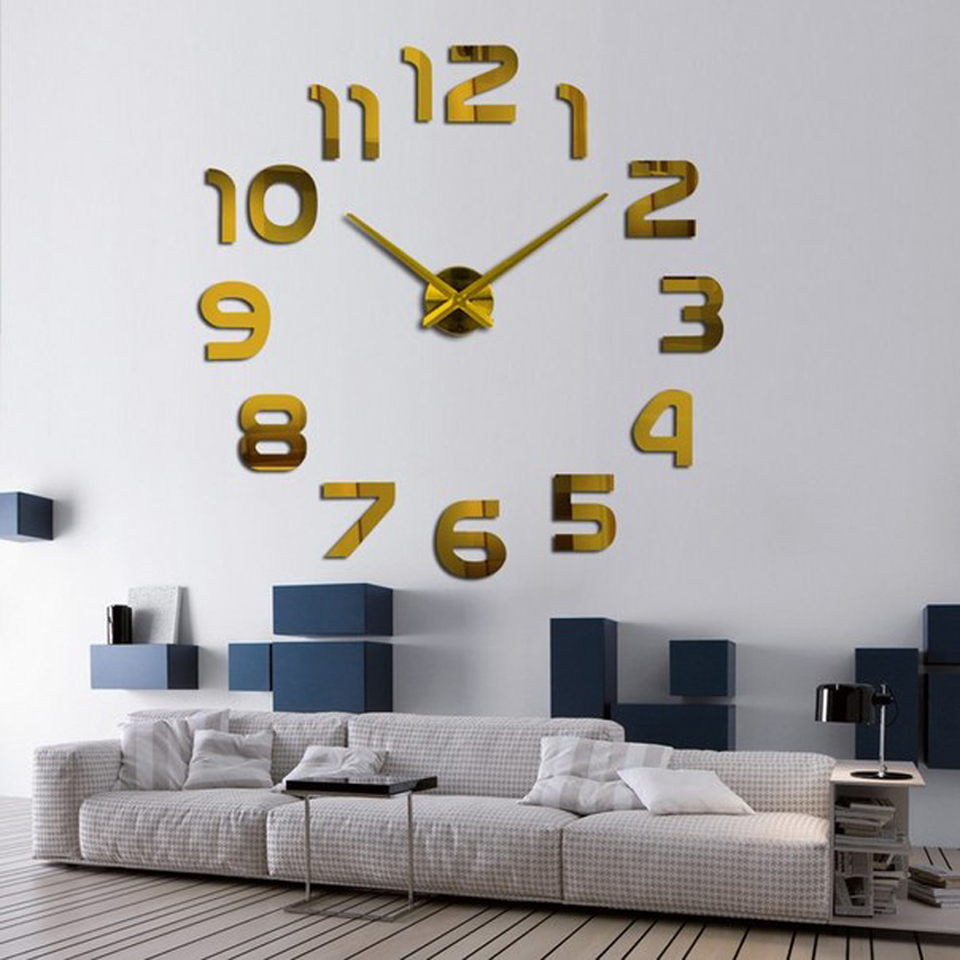 2017 new home decoration wall clock big mirror wall clock modern 2017 new home decoration wall clock big mirror wall clock modern design large size wall clocks diy wall sticker unique gift in wall clocks from home amipublicfo Gallery