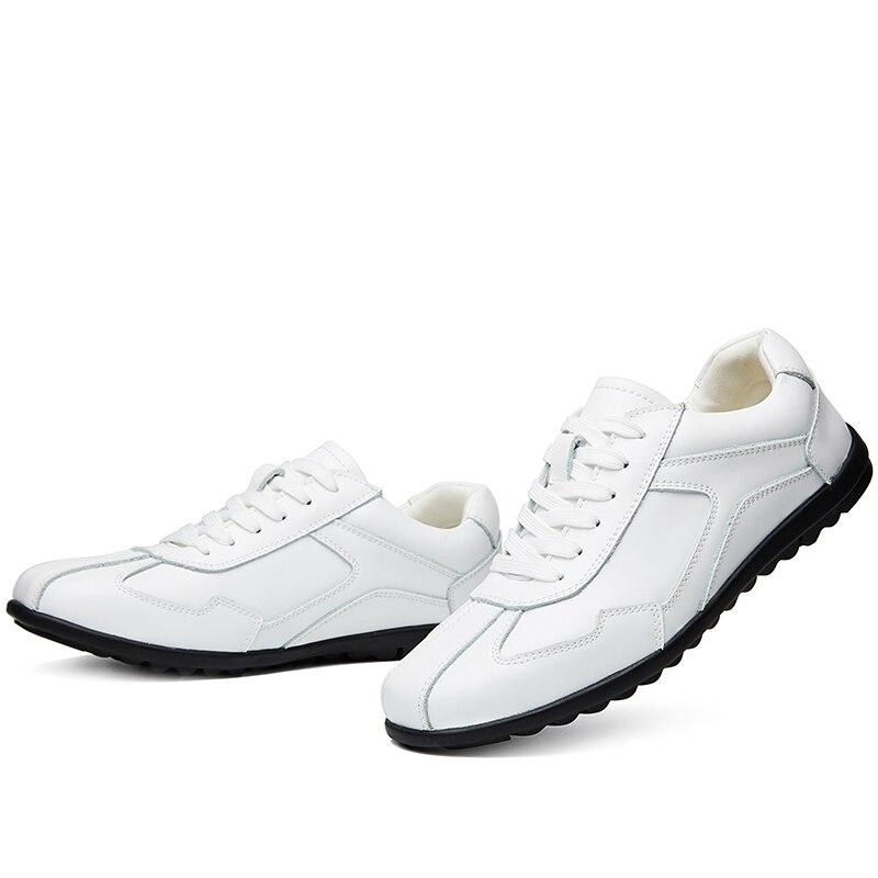 Branco Primavera Couro De Sapatos Para Black Casual Novas Condução Tênis Chegam Homens Sapato Retro Plataforma Outono brown Oxfords 2019 Misalwa Escritório white ptIqOwx
