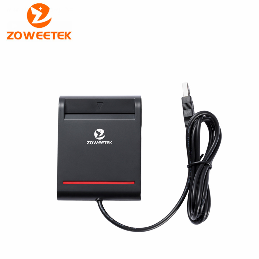 Zoweetek 12026-2 EMV USB Smart Card Reader Writer DOD Military USB Common Access CAC Smart Card Reader For SIM /ATM/IC/ID Card yongkaida best quality acr39 u uf pc sc ccid iso 7816 emv certified contact ic chip smart card reader