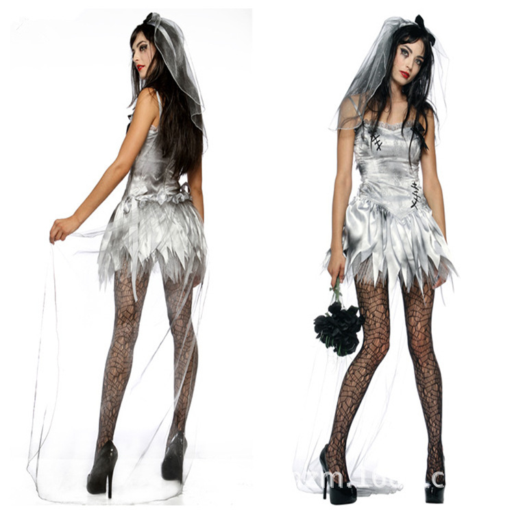 nias cosplay ropa de halloween para adultos corpse bride dress cosplay uniformes del juego de disfraces