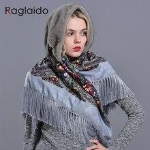 ミンク毛皮フード女性の冬ファッショナブルな高級女の子女性暖かいスタイリッシュなリアルファーエレガントなタッセルスカーフ帽子