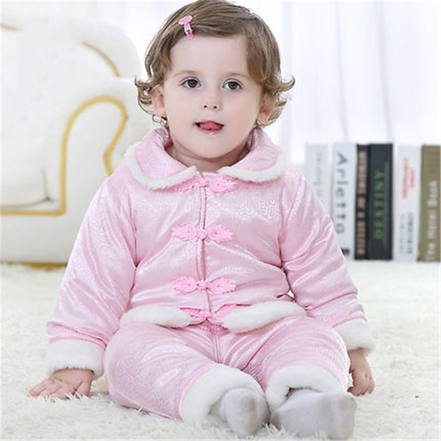 Kids Fall Winter Clothing Christmas Baby Set Newborn Thick Cotton Chinese Clothes Boys Girls Coat Tops Pant Tang Suit 70Z2056 2017 new boys clothing set camouflage 3 9t boy sports suits kids clothes suit cotton boys tracksuit teenage costume long sleeve