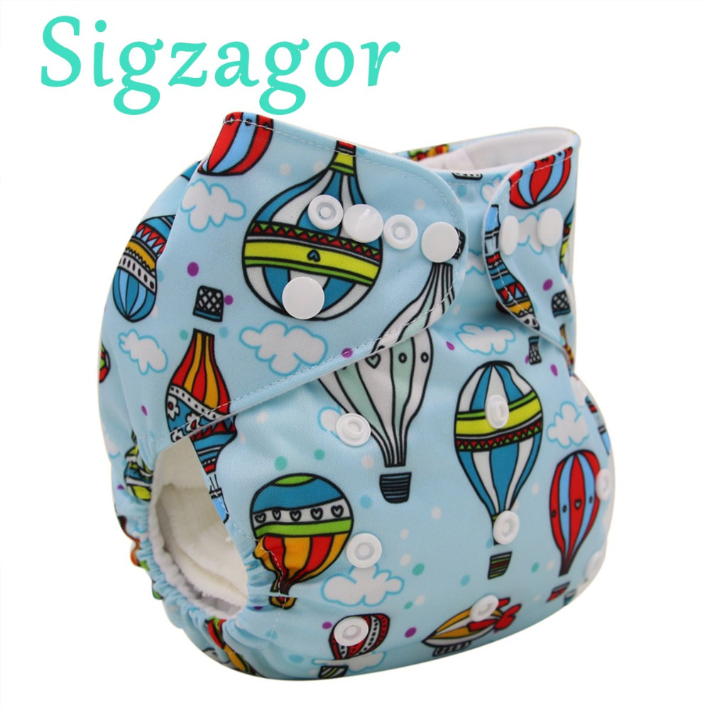 [Sigzagor]2 to 7 years old Big Cloth Diaper,Nappy,Pocket One Size,Reusable Washable,Microfleece Inner,Baby Kids Toddler Junior