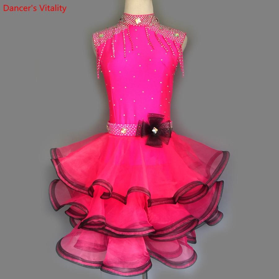 2018 New Women Latin Dance Competition Clothes Adult female/Girls Ballroom Dance Walzte Tango Dance Performance Dress