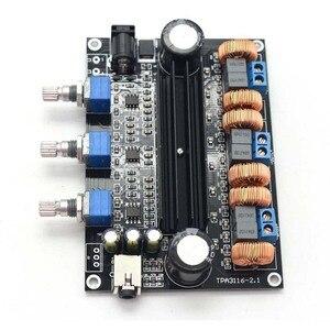 Image 5 - TPA3116D2 18V a 24V Subwoofer Digital Audio Amplificatore Consiglio 50w + 50W + 100W 2.1 canale amplificador B1 002