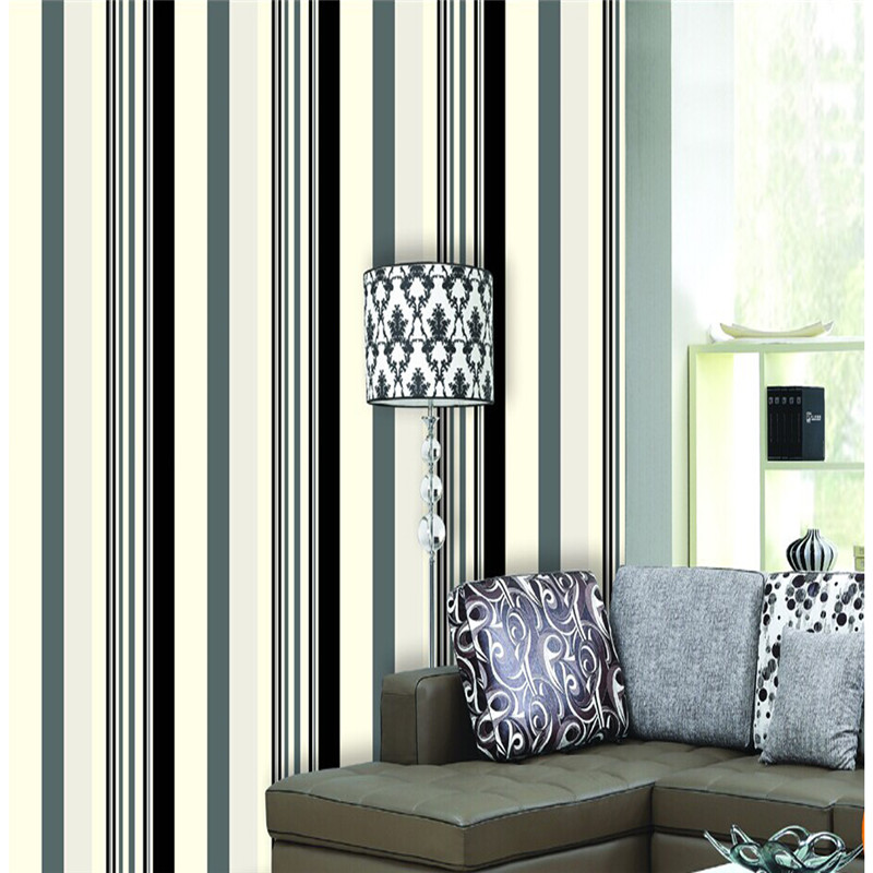 Online get cheap designer striped wallpaper aliexpress for Cheap designer wallpaper