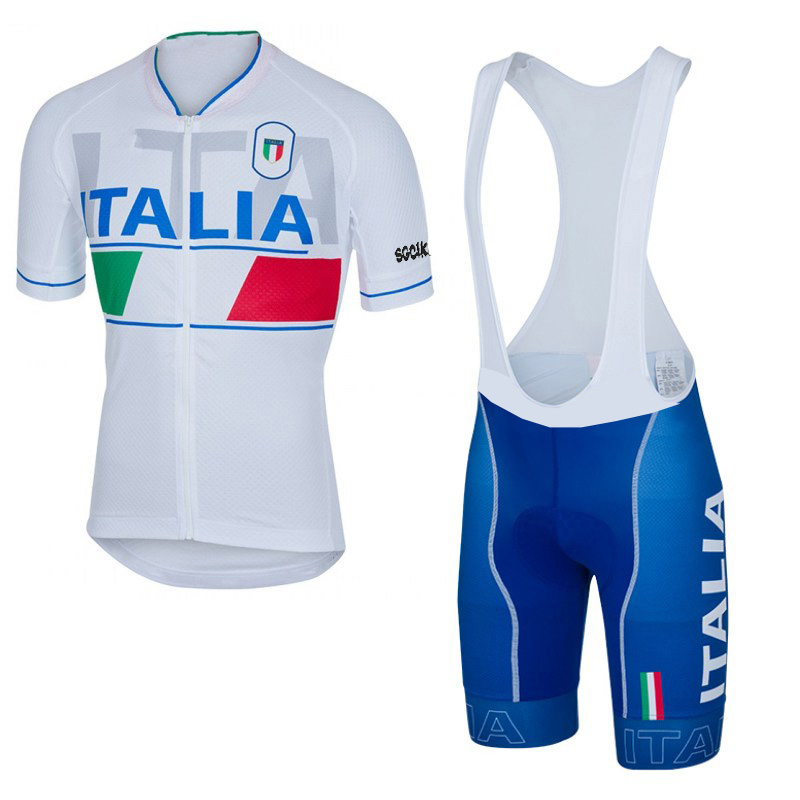 Polyester summer breathable cycling jerseys pro team ITALIA Short sleeve bike clothing MTB Ropa Ciclismo Bicycle maillot gel pad
