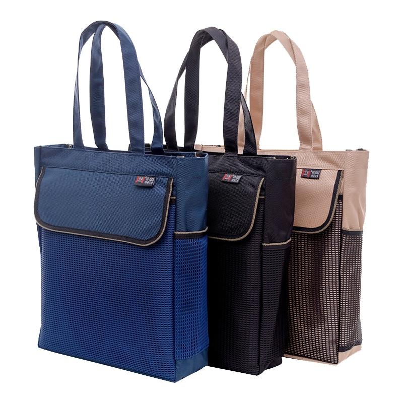 High Capacity Portable File Bag A4 Student Book Bag Art Bag Simple Multifunctional Student Zipper Waterproof Canvas Bag