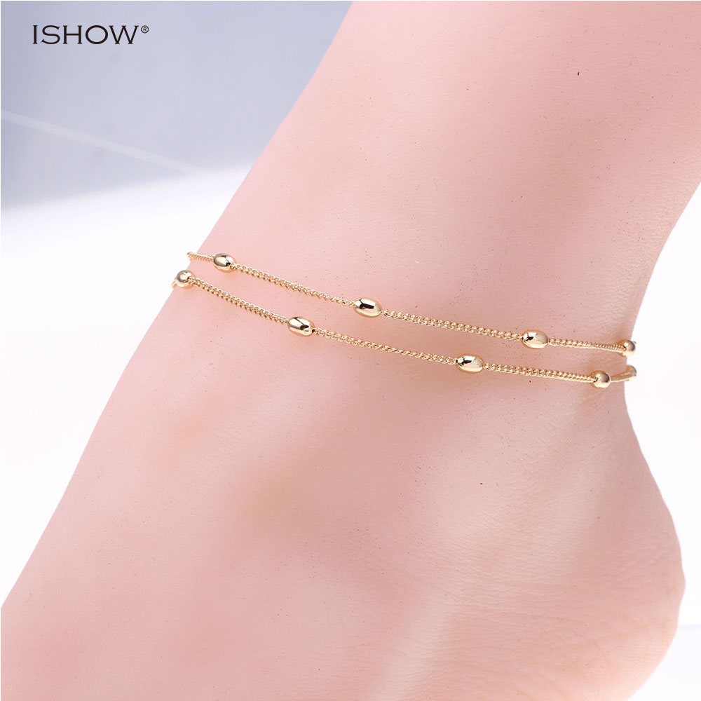 ISHOW chain woman anklets foot jewelry leg ankle bracelets