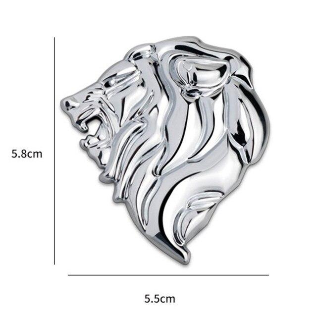 Online Shop Chrome Metal Lion Head 3d Emblem Totem Badge Car Styling