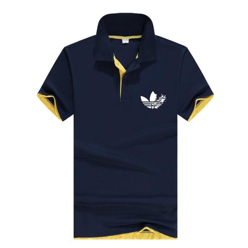Brand Mens Business   Polo   Shirts Men Desiger   Polos   Men Cotton Short Sleeve shirt Clothes Summer jerseys Golf Tennis   Polos   Solid