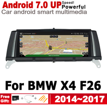 8.8 HD Screen Stereo Android 7.0 up Car GPS Navi Map For BMW X4 F26 2014~2017 NBT Original Style Multimedia Player Auto Radio