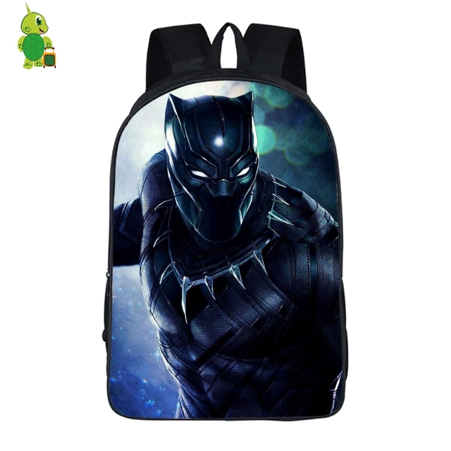 Avengers Black Panther School Bag for Teenage Boys Girls Laptop Backpack  Super Hero Shoulder Bags Women Men Travel Rucksacks 59144cf9bdc27