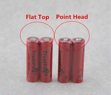 18pcs/lot TrustFire IMR 14500 700mAh 3.7V Rechargeable Li-ion Battery Power Batteries Output 5A For E-cigarette Torch Flat Top