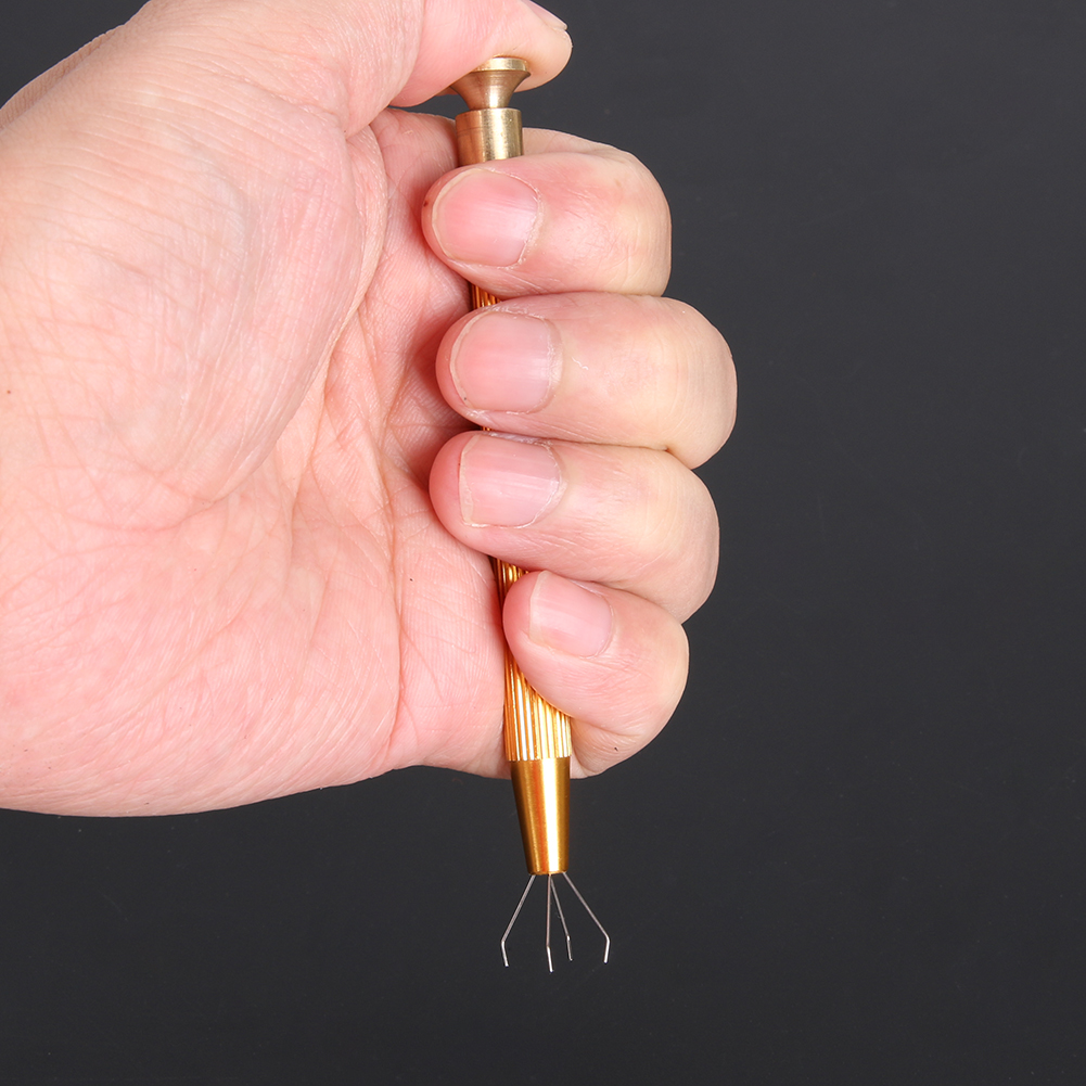 Precision Parts Jewel Grabber Tweezer Components Catcher Clamping Clip Pick Up Tools Four Claw Hold Tightly Hand Tools