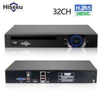 Hiseeu-enregistreur vidéo réseau DVR, 2HDD 25CH 5MP 32CH 1080P 8CH 4 K, H.265, NVR, 2.0 pour caméra IP, SATA,