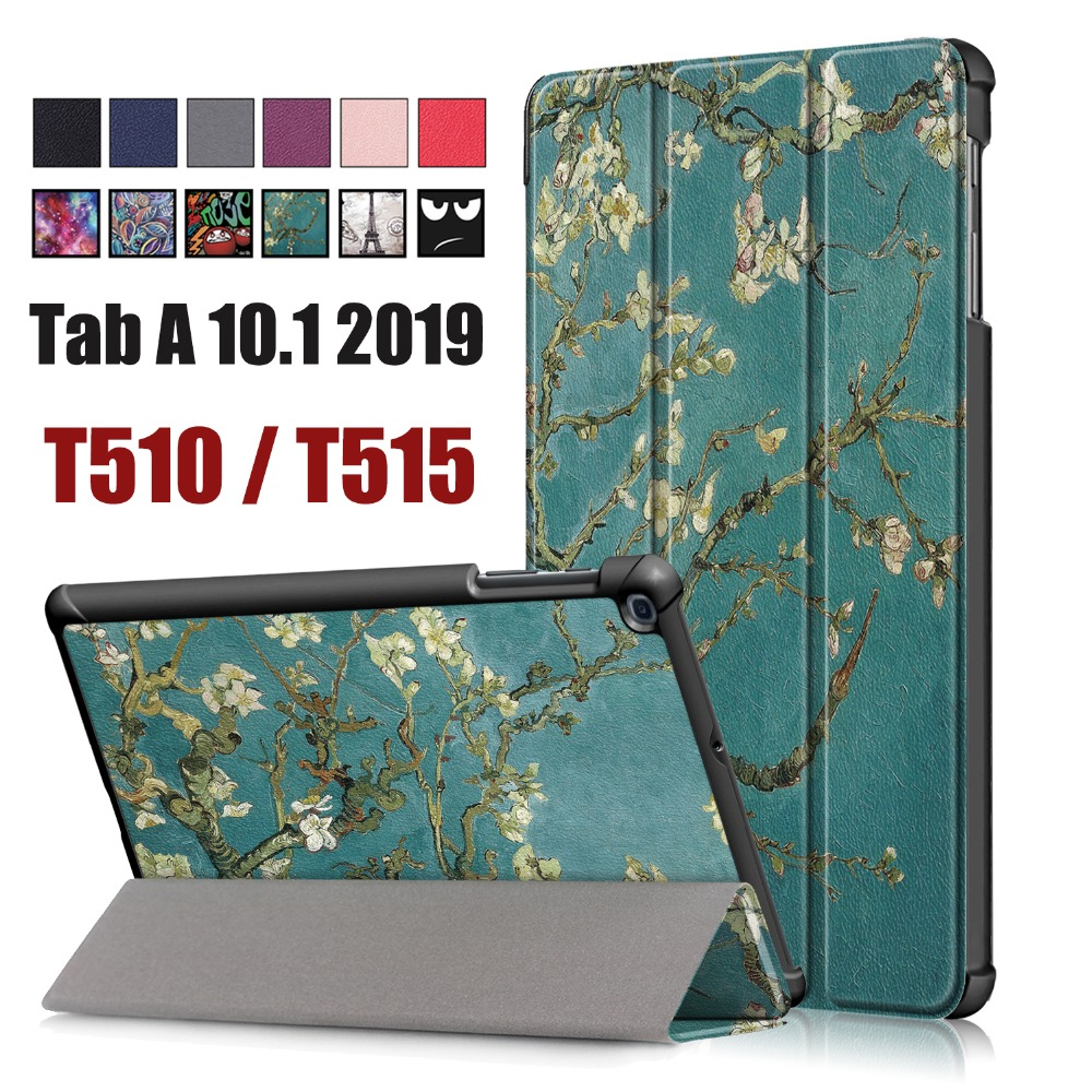For Samsung Galaxy Tab A 10.1 2019 <font><b>T510</b></font> T515 Business Painted Sleep Wakup PU Slim Leather Book Flip Smart Cover <font><b>Case</b></font> image