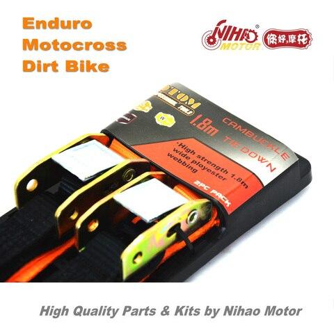 84 Motocross Parts Universal Ratchet 1.8m belt bind pull motorcycle transportation Enduro Kit Dirt bike spare cross Karachi