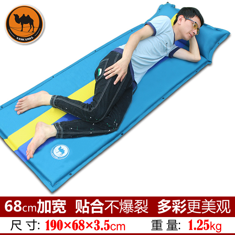 Camel 036-2 color matching air cushion outdoor automatic inflatable mattress cushion 190 * 68 * 3.5cm travel camping mat