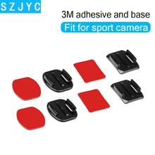 Go pro Accessories Sticker Flat Curved Adhesive 3M VHB Mount surfboard surfaced helmets for GoPro HD Hero 7 6 5 4 3Xiaomi Yi