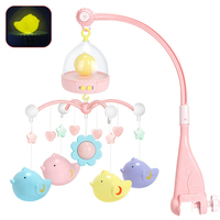 0 24Months Baby Toys Crib Musical Bed Bell Birdcage Design Hanging Rattle Light Music Box Newborn Infant Educational Toys