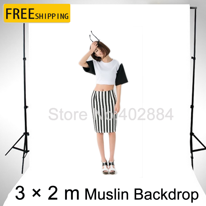 3x2M alb ecran de fotografie Valentine Background fundal bumbac muslin pentru Photo Studio Chromakey