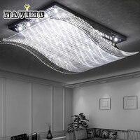 Красочные современная волна светодио дный удаленного Управление K9 кристалл потолочный светильник для Гостиная Спальня потолочный светиль