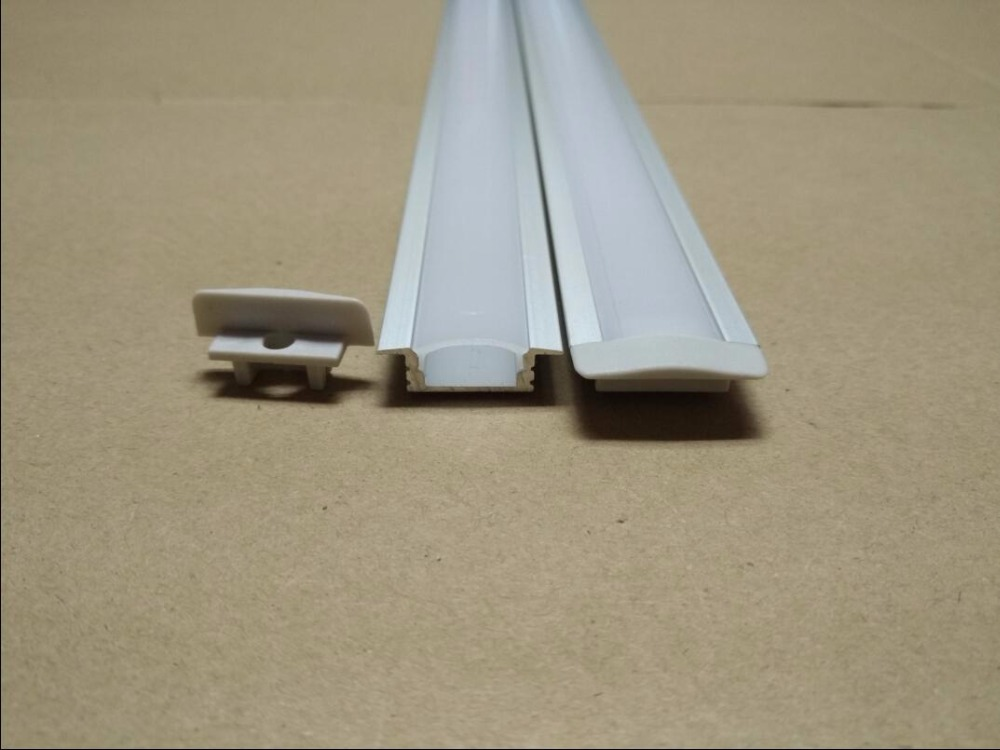 Free Shipping hot selling 1m/pcs led aluminum profile for led strips with milky or clear cover and end caps ,clips
