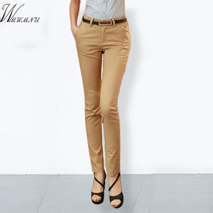 WMWMNU Ladies Office Elastic Casual Cotton Trousers Women