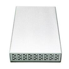 Portable hard disk box 3.5 inch silver aluminum shell hard drive case sata usb 2.0 hdd enclosure support esata hdd disco U35YAU2