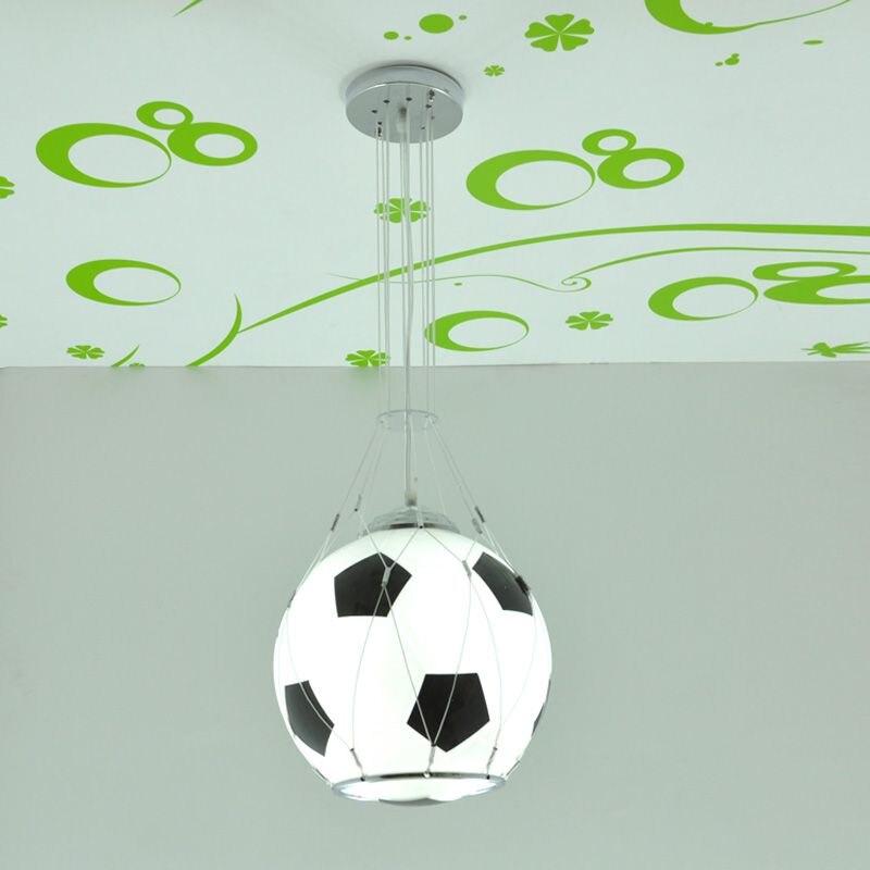 Football moderne basket enfants chambre pendentif lumières créatif dessin animé enfant chambre lampe garçons chambre pendentif lumière