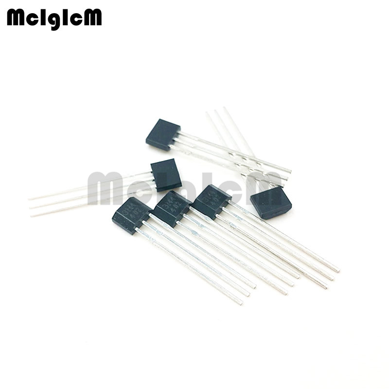 US $8 17 |MCIGICM 100 pcs A3144/ OH3144/ Y3144 Hall Effect Sensor Brushless  Electric Motor TO 92UA hall effect sensor a3144-in Integrated Circuits