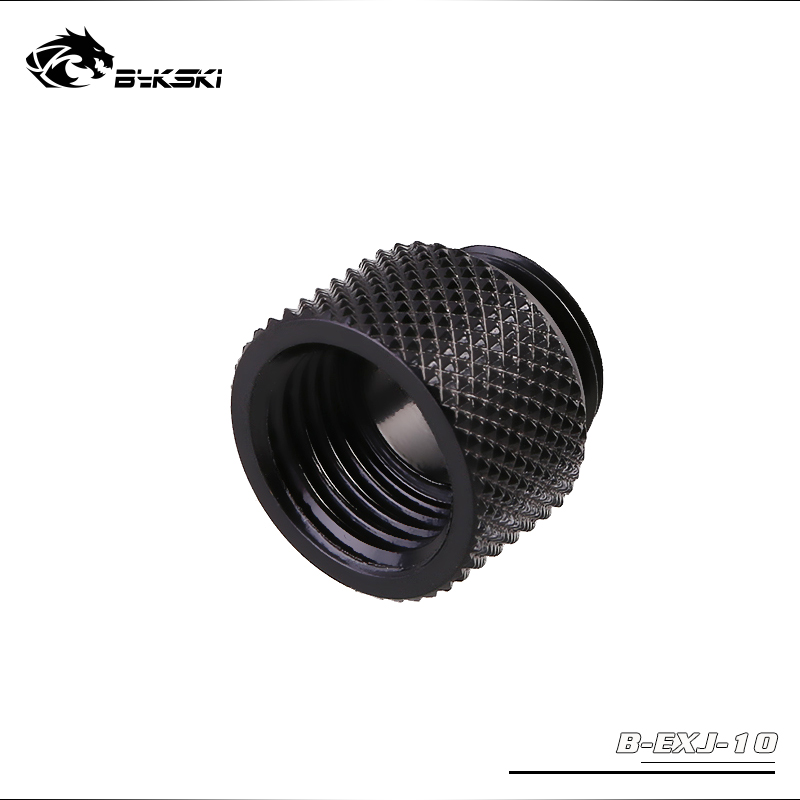 """BYKSKI ( Extend 10mm )G1/4"""" Female to Male Thread Straight Docking Seat Tube / M to F Lengthen 10mm Accessories Fitting"""