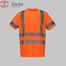 Jiade Adult High Visibility T-shirt Short T-shirt Men's Work ReflectiveT-shirt free shipping