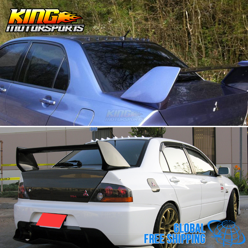 For 03 08 Mitsubishi Lancer EVO 8 9 ABS Shark Fin Roof Vane Spoiler Wing  Global Free Shipping Worldwide In License Plate From Automobiles U0026  Motorcycles On ...