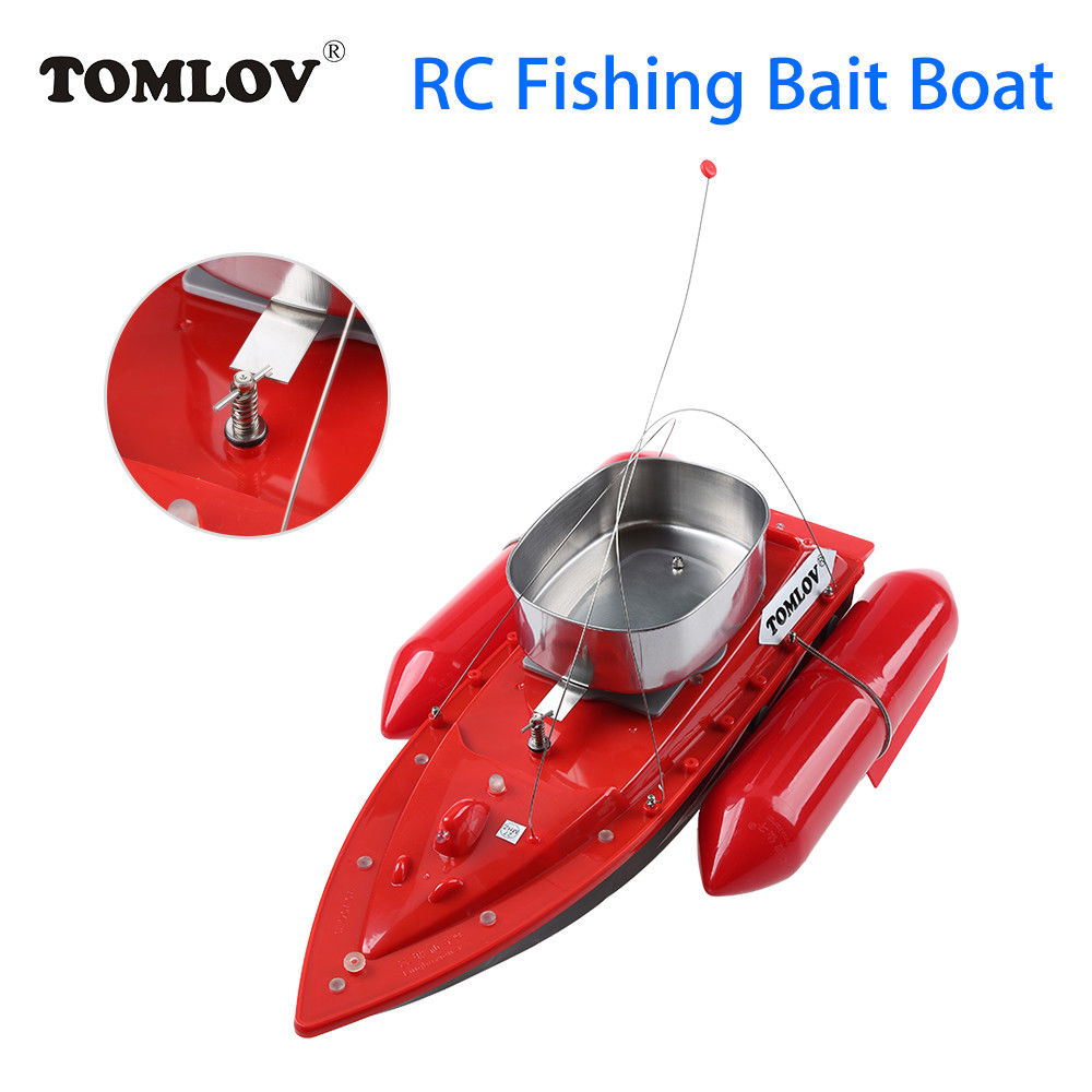 TOMLOV T10 Electric RC Fishing Bait Boat Lure Carp Hook Wireless Boat Carrier Red 300M Remote Control For Fish Finder цена и фото