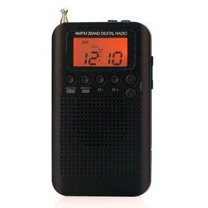 Image 4 - Mini Radio Speaker Receiver LCD Digital FM / AM Radio Speaker with Time Display Function 3.5mm Headphone Jack