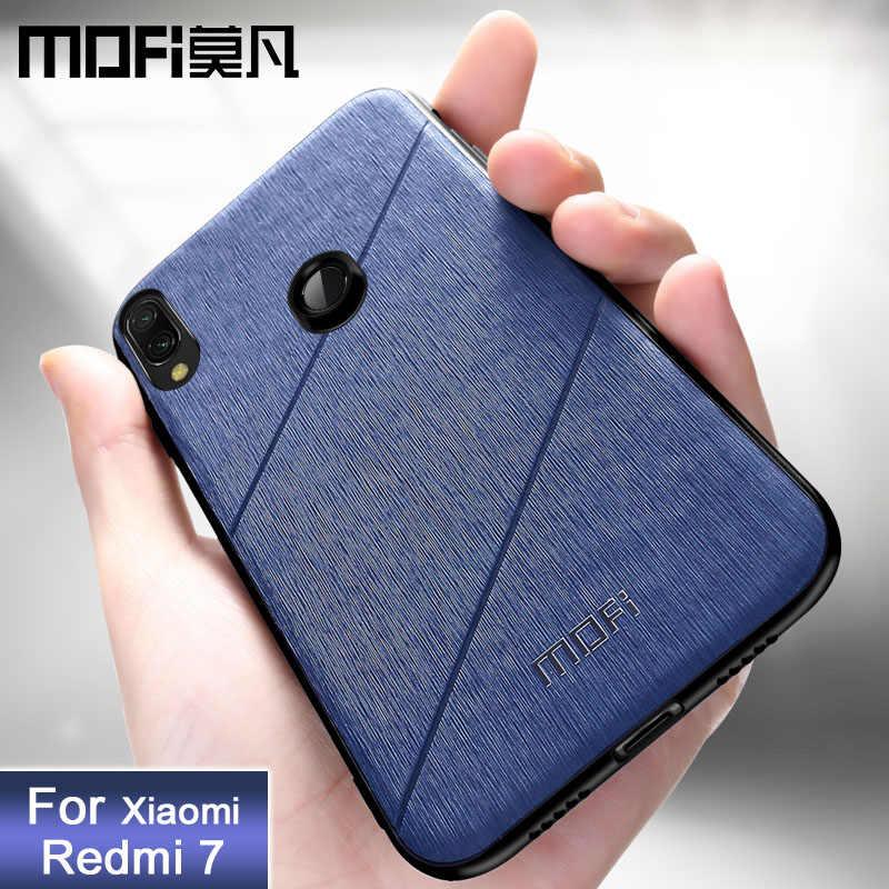 Для xiaomi redmi 7 чехол Защитный чехол для задней крышки Силиконовый противоударный черный чехол MOFi оригинальный redmi 7 pro чехол s
