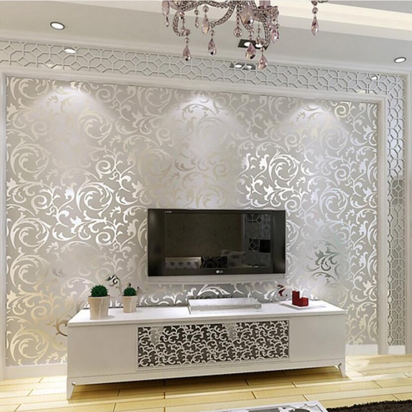Gold Leaf Wallpaper Fashion Living Room