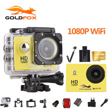 Goldfox 1080P Wifi Action Camera 2.0″ 170D Underwater 30M Waterproof Sports DV go Diving pro cam Bike Helmet Cam Mini Camcorder