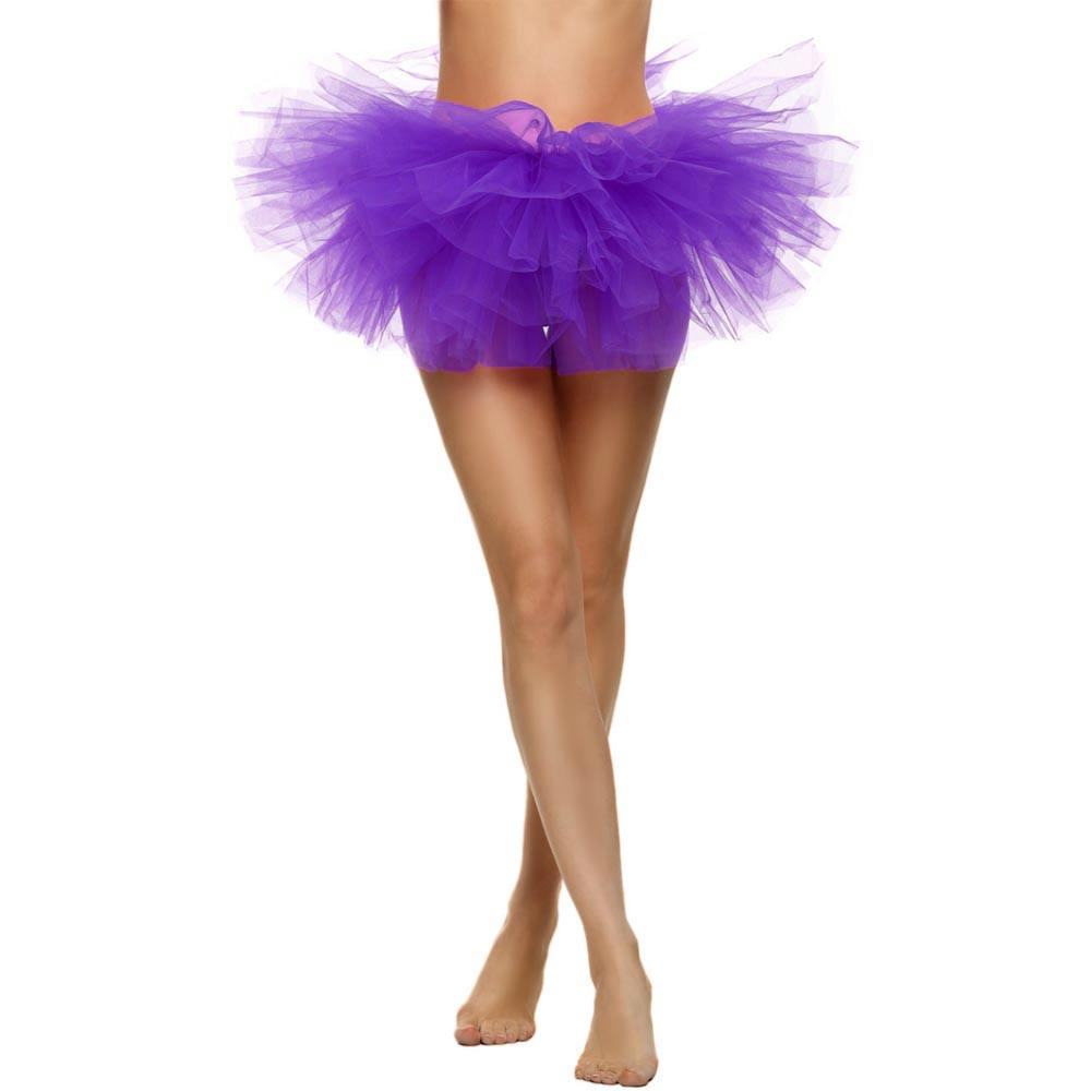 2019 MAXIORILL NEW Hot Sexy Fashion Pretty Girl Elastic Stretchy Tulle Adult Tutu 5 Layer Skirt Wholesale T4 12