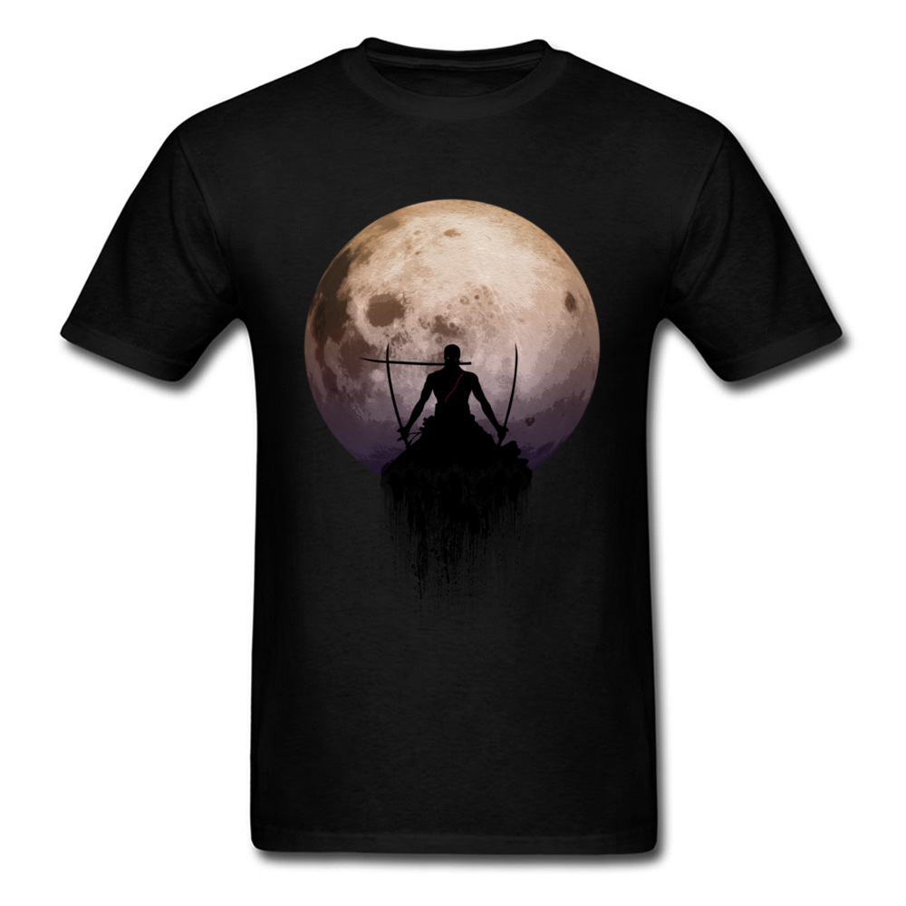 Roronoa Zoro T-shirt Men 3D Moon Print Tshirt SANTORYU 3 Swords Style T Shirt One Piece Japan Anime Clothes Cotton Tops Tees