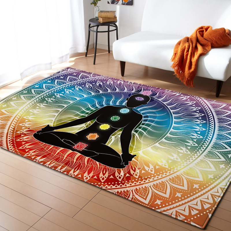 Exotic style Buddhism carpet yoga Indian style livingroom and bedroom large size rugs parlor soft floor mat Hallway kitchen rugs
