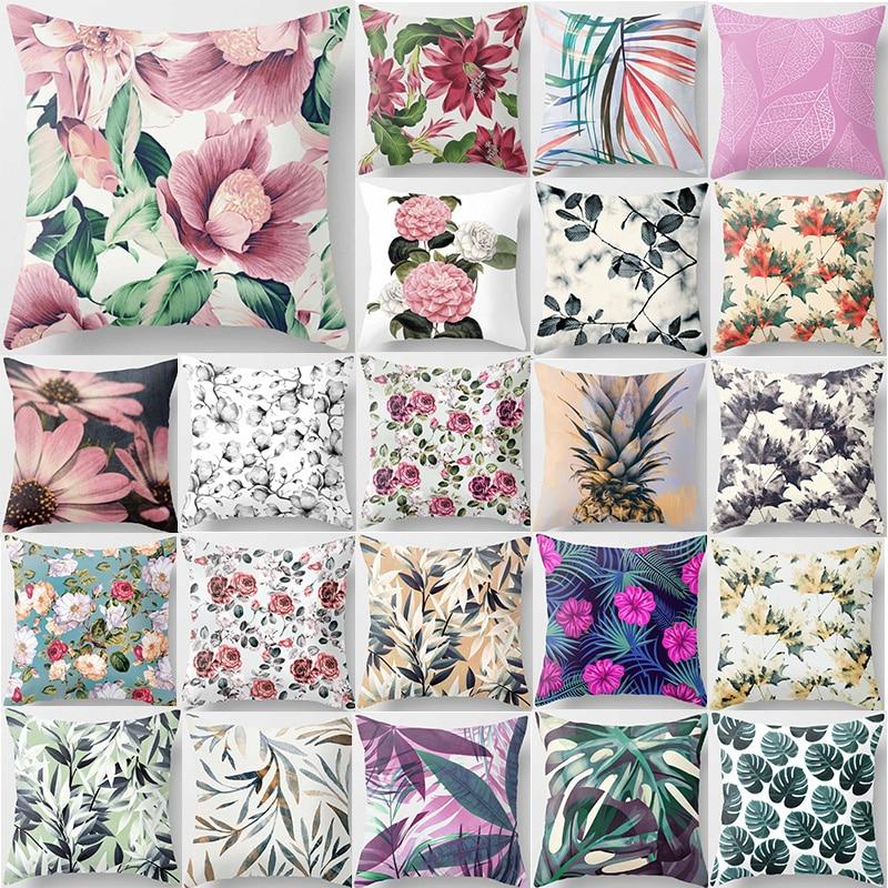 Tropical plants pillow case flower double sides pattern pillow cover mandala beauty pineapple square pillow case 45*45