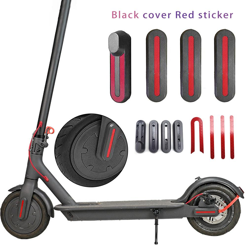 Front Rear Wheel Protective Cover With Linear U - Shaped Stickers For Xiaomi Mijia M365 Electric Scooter Skateboard Accessories
