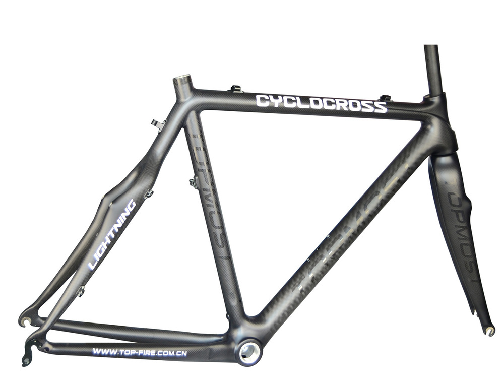 2013 new desig carbon bicycle cyclocross frame set