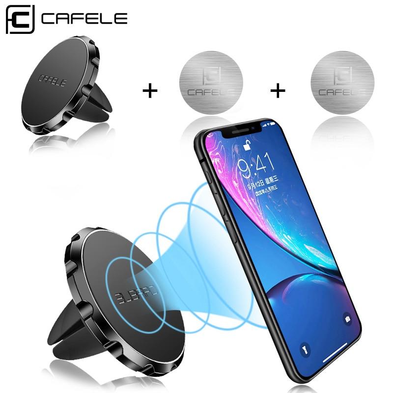 Cafele magnetventil för bilmontering av telefonmonterad telefon med snabb snabb-teknik för smarttelefoner Magnet Biltelefonstativ 5 färger
