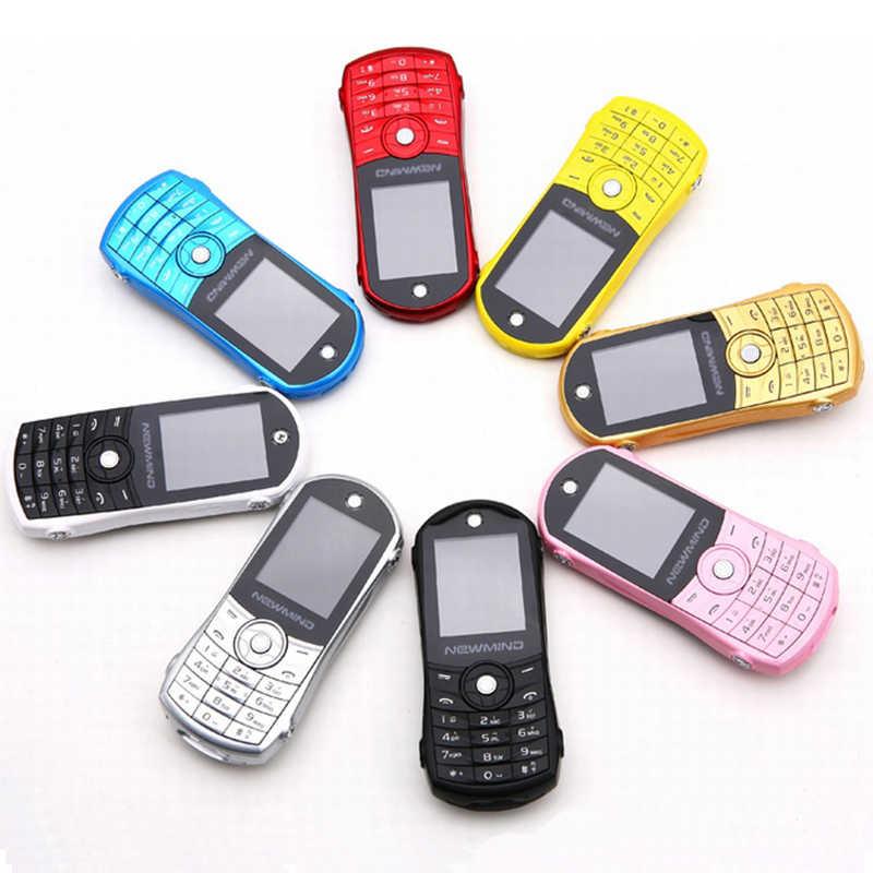 Unlocked Bar Phone Newmind F8 Dual Sim Sports Car Mini Mobile Cell Phone  Cute Music Player Mp3 Fm For Children
