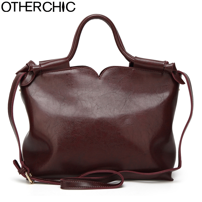 OTHERCHIC Women Fashion All-match Tote Bags Crossbody Bags Wax Leather Messenger Bag Top-Handle Vintage Handbags Women 7N06-27 harman kardon onyx studio 2 black